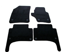VW Touareg 2003-2009 Fully Tailored Deluxe Car Mats in Black VW Oval
