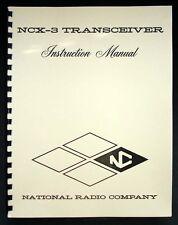 National NCX-3 NCX3 HAM Transceiver Manual