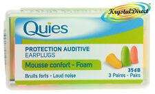 Quies Soft FOAM Ear Plugs Earplugs Noise Protection