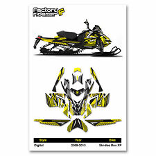 2008-2013 SKI DOO XP SNOWMOBILE GRAPHICS DIGITAL STYLE BY ENJOY MFG / 137 TRACK