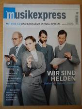 MUSIKEXPRESS 6/2007 *Wir sind Helden Tocotronic Björk BRMC Deichkind Patti Smith