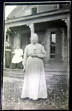 SCHENECTADY New York ~ 1914 OLDER LADY ~ Woman on Crutches ~ HOME~ HOUSE  RPPC