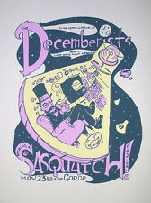 Decemberists Sasquatch Rare 2007 Silkscreen Gig Poster S/N Ed Of Only 50!