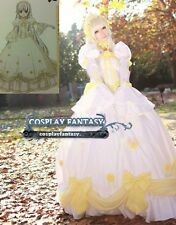 Gosick Victorique de Blois Gown Cosplay costume Lolita White Dress Victorian