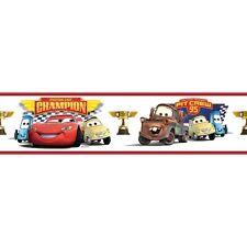 DISNEY CARS Wall Sticker Border Room Decor LIGHTNING MCQUEEN Piston Cup Champion