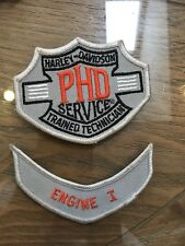 Old Stock Harley Davidson factory service PhD trained technician patch badge