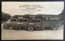 Rare CPA, Camion, déménagement, vieux métier, Amiens, Transports Soirant
