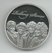 Rolling Stones Silver Coin Rock n Roll Pop Music Band Songs Rockers 60s Retro UK