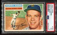 1956 Topps Baseball #155 HARVEY KUENN Detroit Tigers Gray Back PSA 5 EX