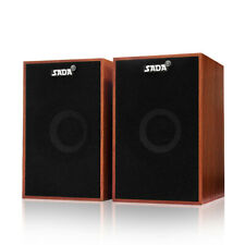 SADA Portable Wooden StéRéO Speakers USB Alimenté F/ 3.5mm Tablet PC Laptop Z1F0