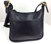 Coach Crossbody Bag Legacy Satchel Purse Tote Handbag Black Leather 9966