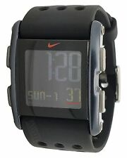 New Nike Torque SI WC0067-002 Black on Black Silicone Chronograph Mens Watch