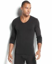 CALVIN KLEIN UNDERWEAR Black U-NECK T-Shirt UNDERSHIRT Thermal Layer THRML M