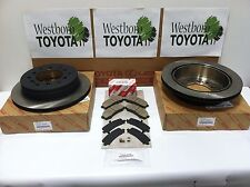 Toyota Sequoia 2001-2007 Genuine OEM Rear Brake Rotors, Pad Kit, and Shim Kit