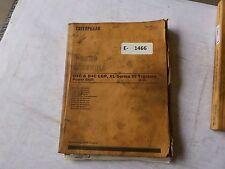 Cat D4C, D4C LGP, XL Series III Parts Manual ,