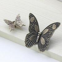 Retro Butterfly Cupboard Cabinet Door Knob Drawer Furniture Pull Handles Decor