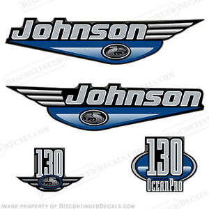 Johnson 1999-2000 OceanPro 130hp Outboard Decal Kit - You Choose Color! Decals