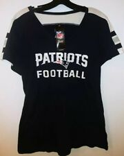 New England Patriots NFL Majestic V-Neck T-Shirt NEW Size Large