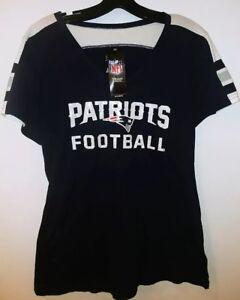 New England Patriots NFL Majestic V-Neck T-Shirt NEW Size XL