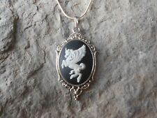PEGASUS - UNICORN CAMEO NECKLACE--925 PLATE CHAIN- QUALITY