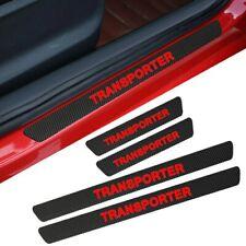 Vw transporter door sill protectors T4 T5 T6 black carbon look red logo