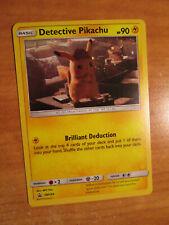 LP Pokemon DETECTIVE PIKACHU Card BLACK STAR PROMO Set SM194 HOLO Case File Box