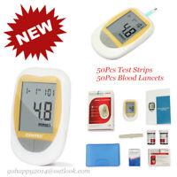 Blood Glucose meter test strip diabetes control large screen 50pcs blood lancets