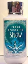 BATH & BODY WORKS FRESH SPARKLING SNOW LOTION CREAM SHEA BUTTER 8 OZ