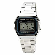CASIO A158W-1 Unisex Classic Silver Digital Chronograph Sport Watch NEW