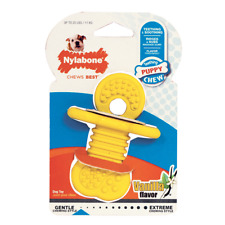 Nylabone Puppy Rubber Teethers Small Vanilla Flavor   Free Shipping