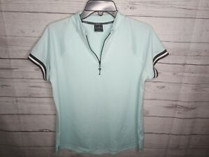 BELYN KEY WOMEN'S SZ MEDIUM ZIP GOLF TOP NWOT
