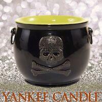 Yankee Candle RAVEN NIGHT SKULL CAULDRON Jar Holder 🎃 Halloween 🎃 NEW