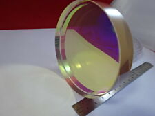 OPTICAL FLAT ZERODUR DICHROIC MIRROR COHERENT LASER OPTICS AS PICTURED &92-92