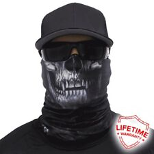 MOTORCYCLE FACE MASK - SMOKEY SKULL - (Moto, Hunting, Fishing, Paintball)