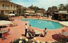 Monterey California~Lounging by he Pool~Casa Munras Garden Hotel~1960s Postcard