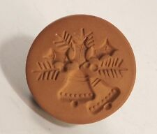 Rycraft Christmas Bells Holly Cookie Stamp Press Mold Glazed Crafts Kitchenware