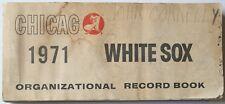 Rare 1971 Chicago White Sox Organizational Record Book Gossage Melton May