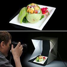 "Mini Photo Studio Photography Tent Kit 9"" Backdrop Cube Box SofeBox Light Room"