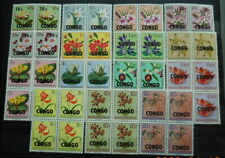 CONGO - FLOWERS 1960 SC : LOT OF 15 MNH BLOCKS -OVERPRINTED BELGIAN CONGO STAMPS