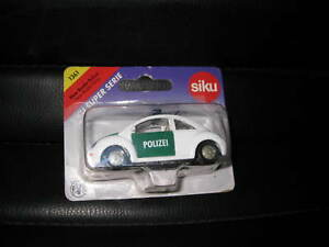 SIKU SUPER SERIES VW NEW BEETLE POLICE #1361 OLD SHOP STOCK CLOSE TO 1:55