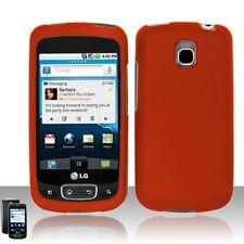 Hard Rubberized Case for LG Optimus T P509 - Orange