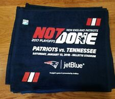 New England Patriots VS Tennessee Titans rally towel NOT DONE gillette win