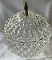 Beautiful Vintage Replacement Lamp Globe Clear Glass