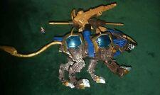 Hasbro Tomy Zoids Liger Zero X 2002 Figure w/ Pilot Blue Gold