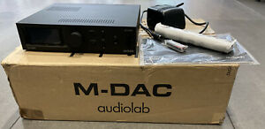 Audiolab M-DAC Hi-Res DAC & Headphone Amp. All Original Accessories & Packaging.