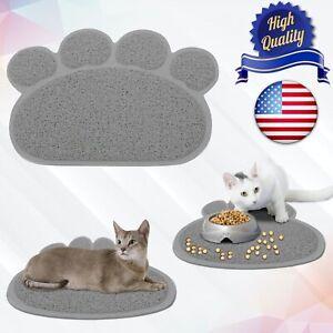 Pet Dog Puppy PVC Cat Dish Bowl Feeding Food Placemat Mat Footprint Wipe Clean