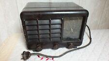 Ancien Vintage petit Poste de RADIO TSF à Lampes  En BAKELITE !! A voir !!