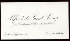 Bourgeoisie.Noblesse. carte d'invitation . Alfred de Saint Loup .Sous-Lieutenant
