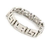 GIANNI VERSACE Chain Bracelet silver Tone Bangle USED #657