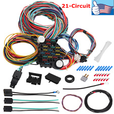 Universal Extra long Wires 21 Circuit Kit Xl Wires Harness Street Hot Rat Rod
